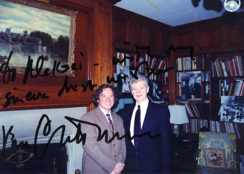 van Cliburn with Aleksei Takenouchi, autographed