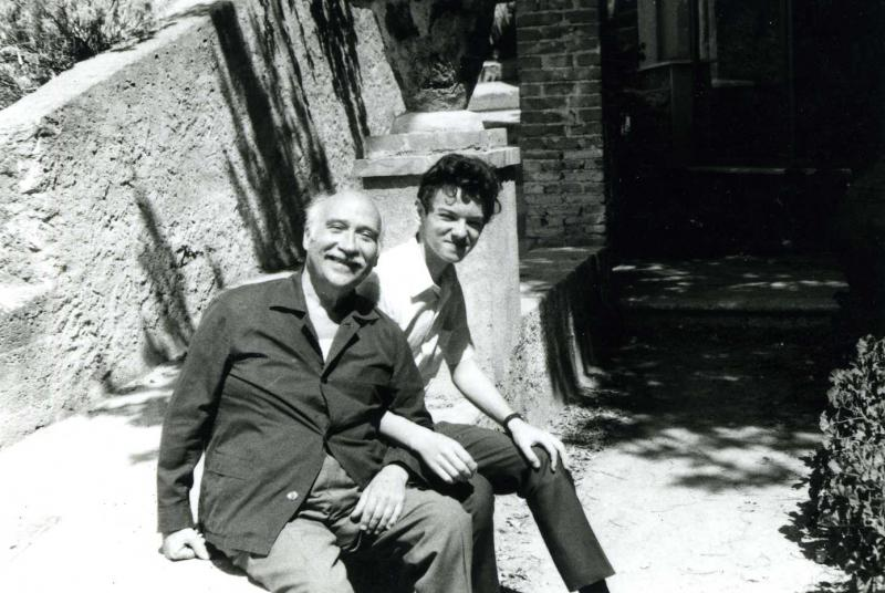 Famed pianist and conductor, Carlo Zecchi with Aleksei in Taormina, Sicily